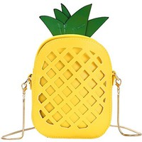 Mother Day' Gift Women's Fashion Shoulder Bag,Pineapple Shaped Pu Leather Purse