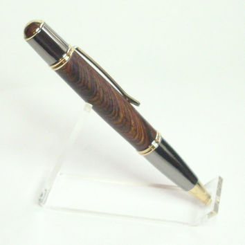 Gatsby Grande Cocobolo and Gun Metal Twist pen