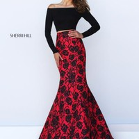 Sherri Hill Print Mermaid Dress 50127
