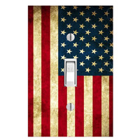 American Flag Light Switch Single Cover Patriotic Decals Wall Art LS48SS
