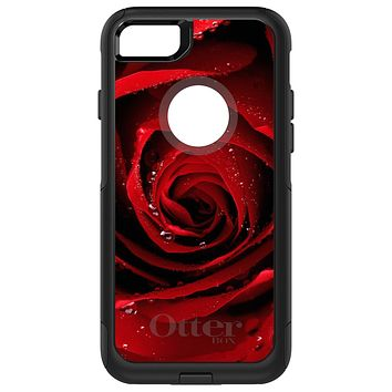 DistinctInk™ OtterBox Commuter Series Case for Apple iPhone or Samsung Galaxy - Dew Covered Red Rose