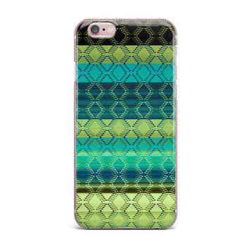 "Nina May ""Denin Diamond Gradient Green"" Turquoise Emerald iPhone Case"