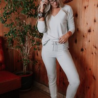 Cozy Up With Me Pullover and Pant OOTW - White