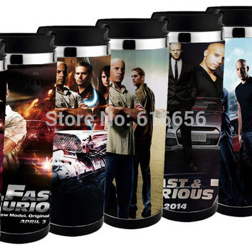 free shiping sell   hot Fast & Furious 7 travel mug  adversing mug easy for DIY , can design  mug for gift ,more pics can chose
