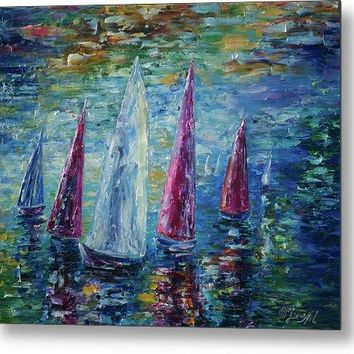 Sails To-night - Metal Print