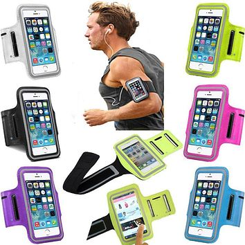 Sport Arm Band Case For iPhone 6 6S 7 Gym Waterproof For Samsung Galaxy S3 S4 S5 S6/Edge S7 J5 XiaoMi Mi5 PU Leather Phone Cover