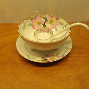 VINTAGE NORITAKE SAUCER, BOWL AND LADLE MADE IN JAPAN