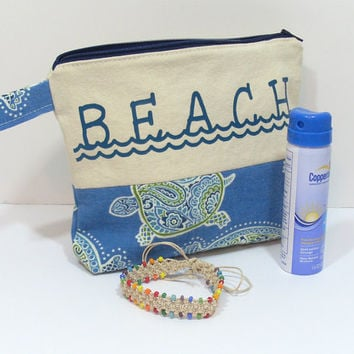 Zipper Beach Bag, Beach Wet Bag, Toiletry Bag, Make Up Bag, Pool Zipper Bag, Bathing Suit Wet Bag, Custom Zipper Bag, Summer Wet Bag