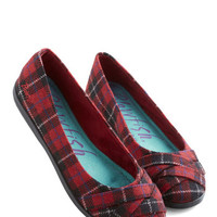 ModCloth Skip in Your Step Flat in Plaid