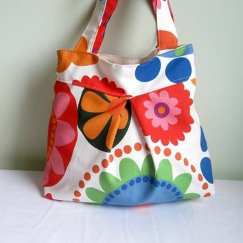 Colors FlowersEveryday BagDouble Straps by marbled on Etsy