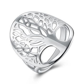 Tree of Life Classic Accessories 925 Sterling Silver Rings For Women