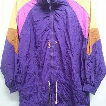 Vintage 1990s Puma Neon Colourfull Windbreaker Sweater Disco Hip Hop Summer Parka Jack