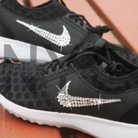 Blinged Nike Juvenate Shoes Black Customized With Swarovski Crystal Rhinestones New in