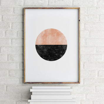 PRINTABLE ABSTRACT WATERCOLOR,Circle Abstract Print, Abstract Watercolor Art,Instant Download,Printable Art Print,Home Decor,Wall Decor