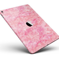 "Teeny Tiny White Polka Dots on Pink Watercolor Full Body Skin for the iPad Pro (12.9"" or 9.7"" available)"