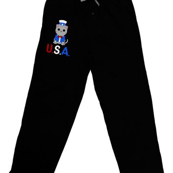 Patriotic Cat - USA Adult Lounge Pants by TooLoud