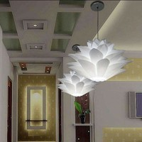 DIY Lotus Chandelier Led PP Pendant Lampshade Light Ceiling Room Decoration Puzzle Lights Modern Lamp Shade