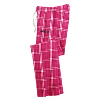 Junior Fit Jeep Pink Flannel Plaid Pant