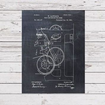 Weft Stop Motion for Looms Patent Print - Patent Art Print - Patent Poster