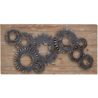 0-018094>Decorative Wood Metal Wall Decor