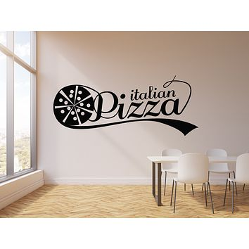 Vinyl Wall Decal Italian Pizza Restaurant Fast Food Store Stickers Mural (g1842)