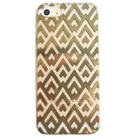 Clear Gold Chevron pattern iPhone 6S/ 6 case