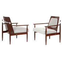 Pair of Architectural Danish Chairs
