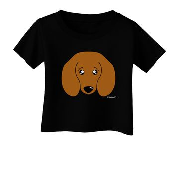 Cute Doxie Dachshund Dog Infant T-Shirt Dark by TooLoud