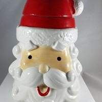 Santa Head Cookie Jar (921)