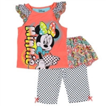 MINNIE MOUSE Girls Toddler 2PC Skegging Set-2T-3T-4T-75e2145mi