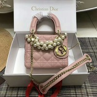 Dior Fashion Prism Sheepskin Pearl Bag