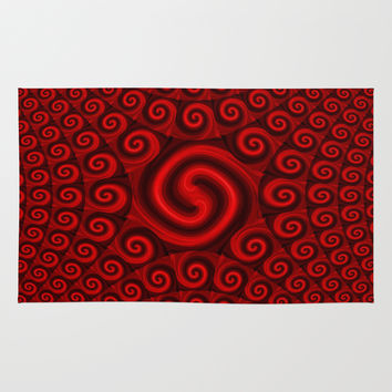 Red Christmas Decoration #4 Rug by Moonshine Paradise | Society6