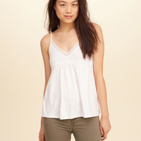 Girls Easy Lace-Trim Cami | Girls Tops | HollisterCo.com
