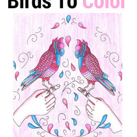 Fantastic Birds to Color: a Bird Coloring Book for Adults