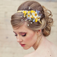 Spring flowers headband headbands for women and by BeSomethingNew