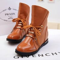 2016 snow boots single autumn and winter women fashion shoes flat motorcycle martin fashion ankle boots