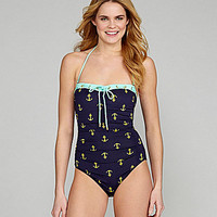 Cremieux Anchor-Print One-Piece Swimsuit | Dillards.com