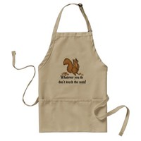 Don't Touch The Nuts Funny Squirrel Adult Apron