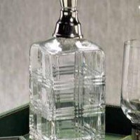 Cut Glass Decanter w/ Nickel Stopper by Zodax