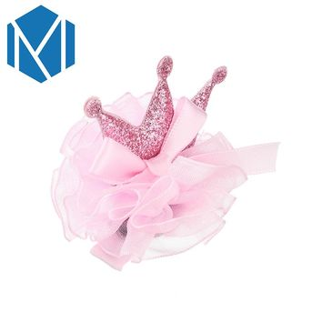 M MISM Cute Baby Girls Crown Hairpin Kids Tiaras Hair Clips Bowknot Hairgrips Princess Pink Hair Accessories Lovely Child Gifts