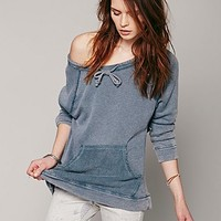 Free People Womens Surplice Back Pullover