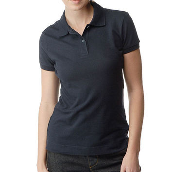 Dickies Girl - Solid Pique Navy Women's Polo
