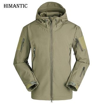 Lurker Shark Skin Soft Military Tactical Jacket Men Waterproof Thick Warm Camouflage Jackets Men Tad Raincoat