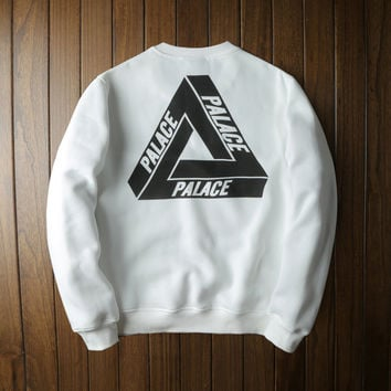 White Womens PALACE Pullover Sweatshirt