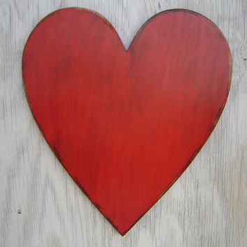 2 foot Large wooden heart wedding engagement photo props wall hanging decor