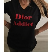 Dior Addict T shirt Top