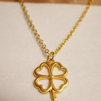 Clover, Four Leaves Necklace