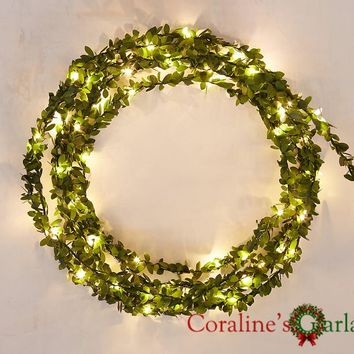 Handmade 4.3M 50 LEDs battery operate Copper LED fairy string lights for outdoor decoration rustic wedding Mother's Day wedding