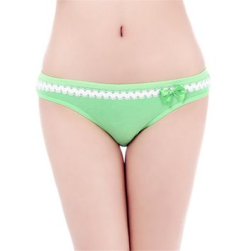 Woman Underwear Sexy Soft Cotton Lace Ladies Panties Briefs Knickers Intimates for Women (6 pcs /lot) SIZE:M L XL