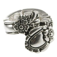 Silver Spoon Look Silver Stretch Ring